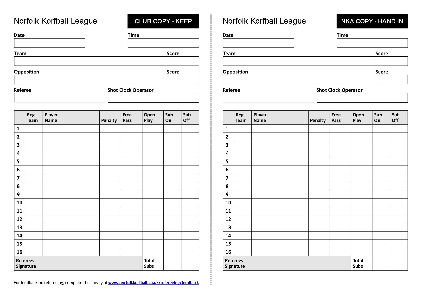 Match Form 2016