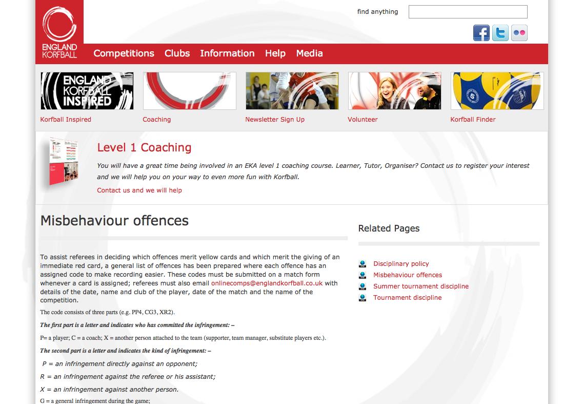 Misbehaviour offences